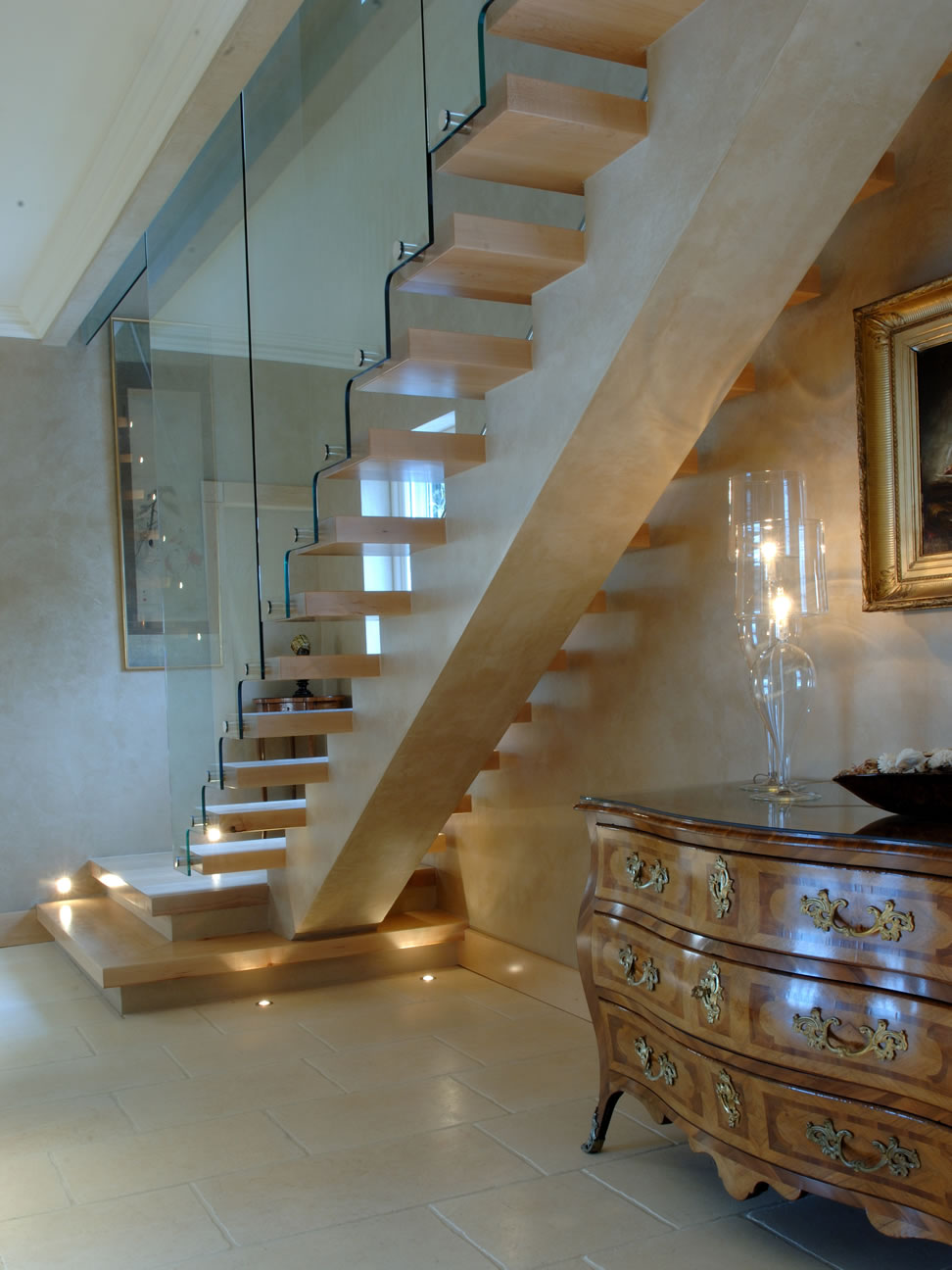 Hopper limestone - Staircase by Alan Hume and Cabinate Makers - Designworks